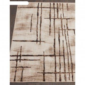 Прямоугольный ковёр sierra d717, 200x400 см, цвет beige-brown