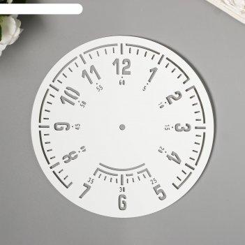 Трафарет часы  d-15 см