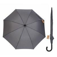 Зонт полуавтоматический «однотонный», 8 спиц, r = 56 см, цвет серый