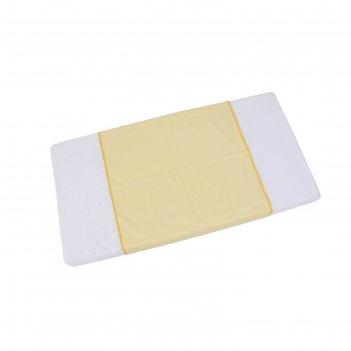 Пеленка-клеенка фея окантованная 68 х 100  см, желтая
