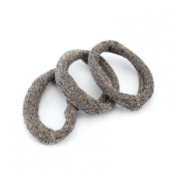 Резинки для волос dewal beauty цветные, широкая лента, midi (4 шт.)