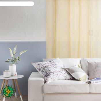 Тюль этель 250*280 цв. жёлтый, вуаль, 100% п/э