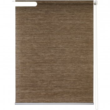 Рулонная штора «концепт», 80х175 см, цвет коричневый