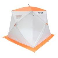 Палатка призма 200 (3-сл) стежка 210/100 с 2 входами,люкс композит, бело-о