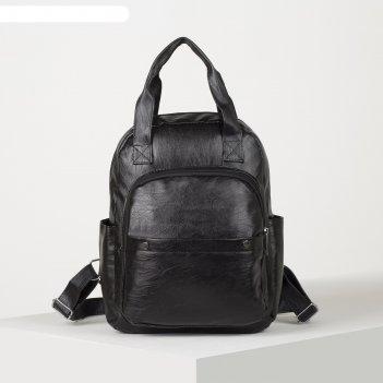 Рюкзак-сумка крис, 28*12*35,  2 отд на молнии, 2 н/кармана, 2 бок кармана,