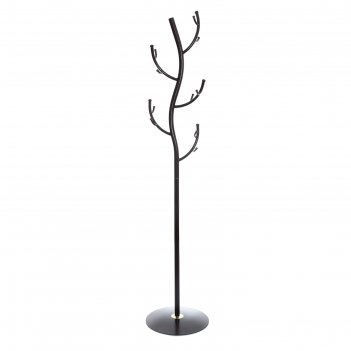 Вешалка-стойка №9 дерево, медный антик