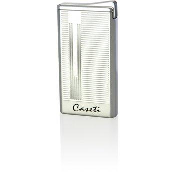 Зажигалка caseti газовая турбо, ветрозащитная,  цвет - серебри