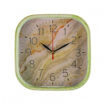 Часы настенные, серия: классика, оникс, квадратные, 22х22 см