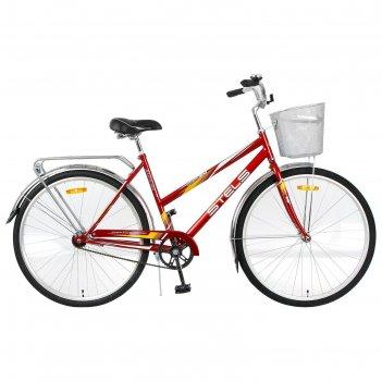 Велосипед 28 stels navigator-300 lady, z010, цвет красный, размер 20