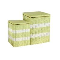 Пуфик-короб, набор 2 шт (27*35, 36*43 см), зеленый