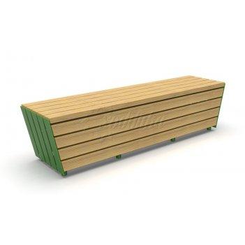 Модульная скамейка «экополис-2» стандарт