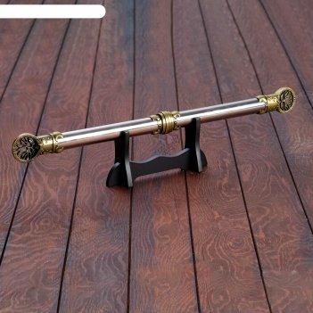 Сувенирный кинжал 2в1, на подставке, рукоять под голографию, наконечник с
