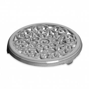 Подставка под горячее, диаметр: 23 см, материал: чугун, цвет: серый графит