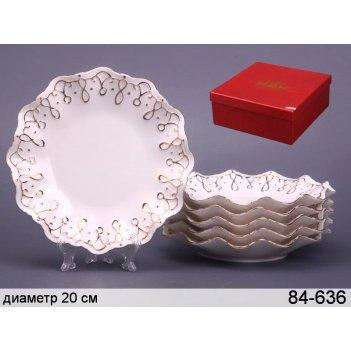 Набор тарелок из 6 шт.лаура диаметр=19 см.под.упак.(кор-8наб)