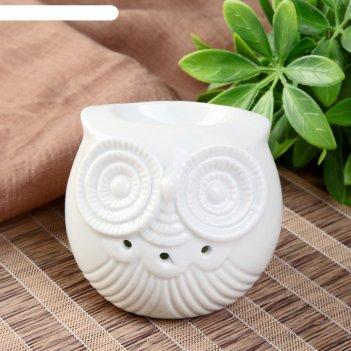 Аромалампа керамика пузатый совёнок  7,7х8,5х8 см