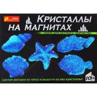 Набор для опытов кристаллы на магнитах синие 12126003