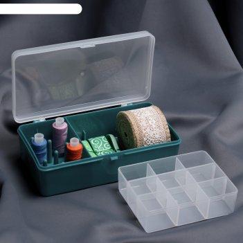 Органайзер для хранения швейных принадлежностей, 21 x 11 x 6,5 см, цвет тё