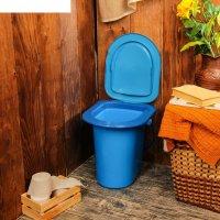 Ведро-туалет 17 л, голубое