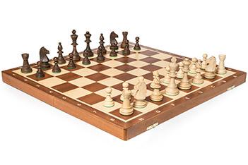 Шахматы tournament №6 (турнирные 6) король 9,8см, доска махагон 54х54см