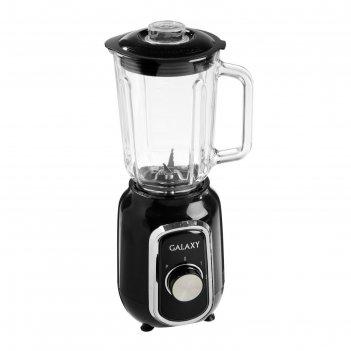 Блендер galaxy gl 2158, 550 вт, стационарный, чаша 1.5 л, кофемолка, чёрны