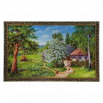 Картина дом среди деревьев