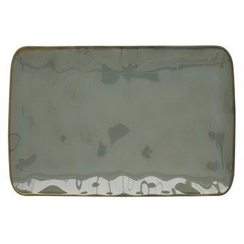 Тарелка прямоугольная большая (серый) interiors без инд.упаковки