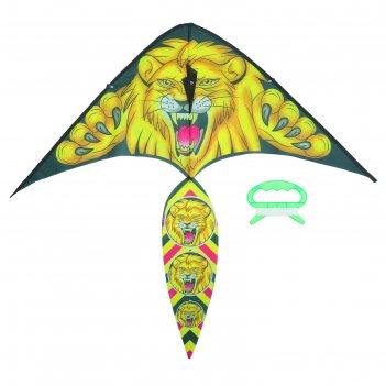 Воздушный змей лев с леской