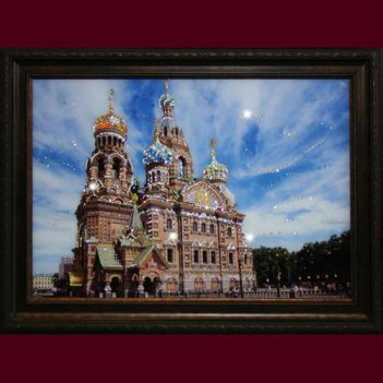 Картина сваровски - храм спаса-на-крови