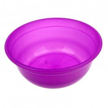 Таз пластиковый 7 л, цвета микс