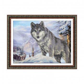 Набор для вышивки бисером «волк»