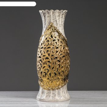Ваза-светильник лена золото, гранит 70 см