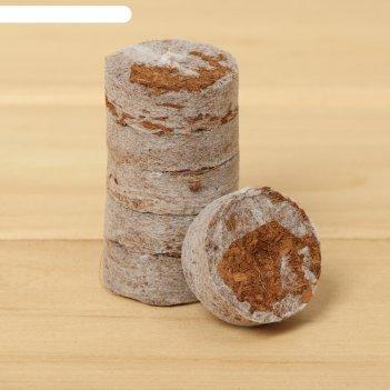 Таблетки кокосовые  d=35 мм в оболочке, (набор 40 шт), greengo