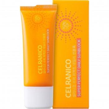 Солнцезащитный крем для лица celranico spf50, 40 мл