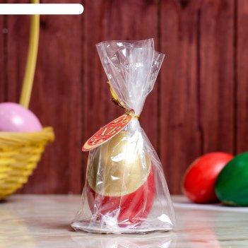 Свеча яйцо праздничное позолоченное