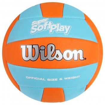 Мяч волейбольный wilson super soft play арт. wth90119xb, р.5, синт.кожа, м