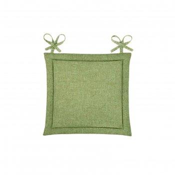 Подушка на стул, размер 40 x 40 см, рогожка, цвет оливковый