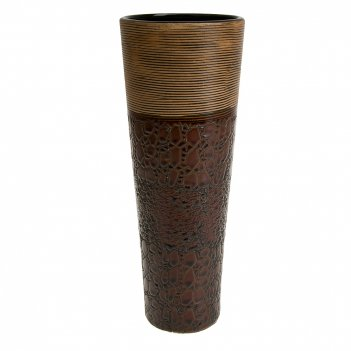 Ваза декоративная шоколад 10,5*10,5*29,5см. (керамика) (транспортная упако