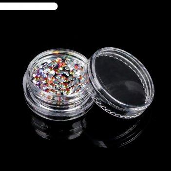 Стразы для декора ногтей, 2 мм, разноцветные