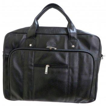 Портфель муж, 40х11х33 см, отдел на молнии, 2 наружных кармана, цвет чёрны