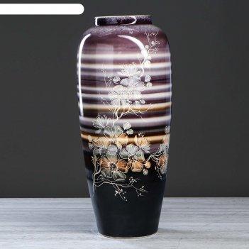 Ваза напольная дана сакура, полосатая, 62 см