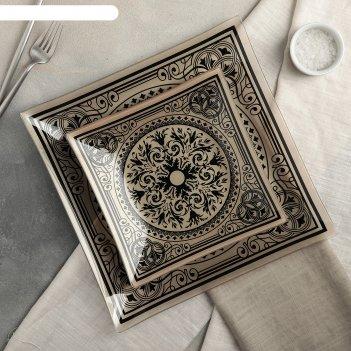 Сервиз столовый на 6 персон эльмира: 6 тарелок 20 см, 1 тарелка 30 см