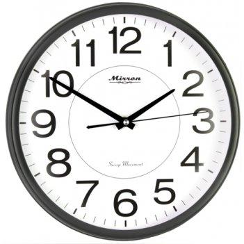 Настенные черные часы mrn 3113a chb