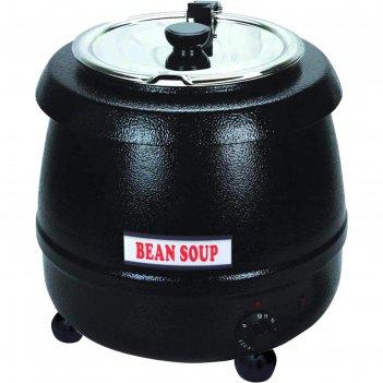 Супница (подогреватель супа) viatto sb-6000, 400 вт, 10 л, 220 v, чёрная