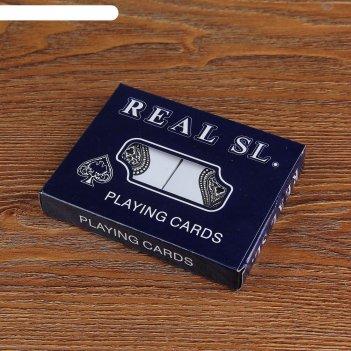 Карты игральные бумажные real sl., 54 шт, набор 2 колоды, 55х85 мм микс