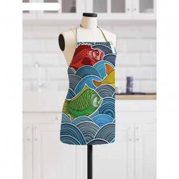 Фартук «синее море», размер 68 x 65 см, оксфорд