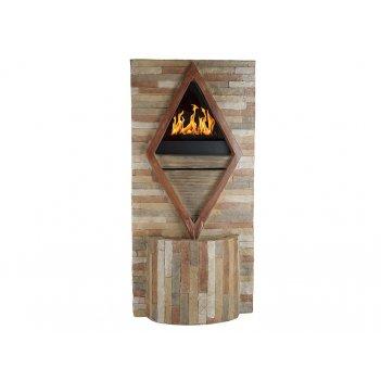 Фонтан декоративный (с подсветкой и имитацией огня) гармония 47*21*97см. (