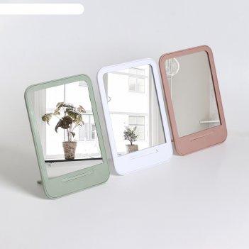 Зеркало настольное, зеркальная поверхность — 11,5 x 15 см, микс
