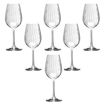Набор бокалов для вина waterfall из 6 шт. 350 мл высота=22,5 см (кор=8набо