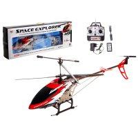 Вертолет радиоуправляемый воздушный путешественник с аккумулятором, цвета