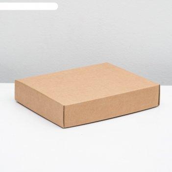 Коробка сборная без печати крышка-дно бурая без окна 29 х 23,5 х 6 см
